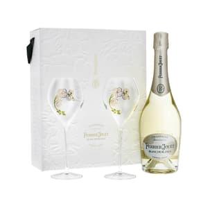 Perrier-Jouët Blanc de Blancs Champagner 75cl, Set mit 2 Flutes