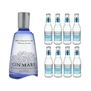 Gin Mare Mediterranean Gin 70cl avec 8x Fever-Tree Mediterranean Tonic Water