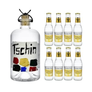 Tschin Gin 50cl mit 8x Fever-Tree Premium Tonic Water