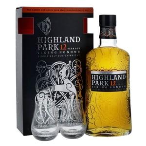 Highland Park 12 Years Viking Honour Edition 70cl Set avec deux Verres