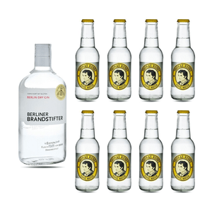 Berliner Brandstifter Dry Gin 70cl avec 8x Thomas Henry Tonic Water