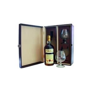 Ron Malecon Imperial 21 Years Rum en coffret en cuir noble avec deux verres
