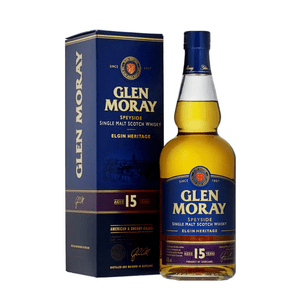 Glen Moray 15 Years Single Malt Whisky 70cl