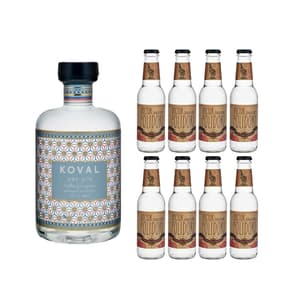 Koval Dry Gin 50cl avec 8x Doctor Polidori's Dry Tonic Water