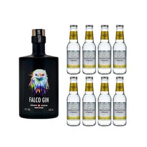 Falco Gin 50cl mit 8x Swiss Mountain Spring Tonic Water Classic
