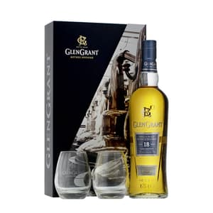 Glen Grant 18 Years Single Malt Whisky 70cl Set avec 2 Verres