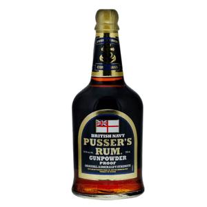 Pusser's British Navy Rum Black Label Gunpowder Proof 70cl