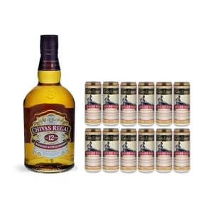 Chivas Regal 12 Years Blended Scotch Whisky 70cl avec 12x Gosling's Ginger Beer