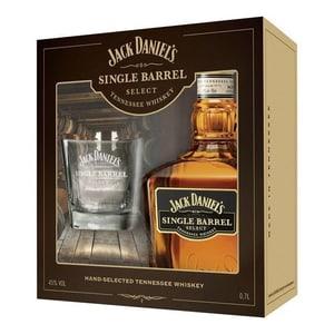 Jack Daniel's Single Barrel Whiskey mit Tumbler 70cl