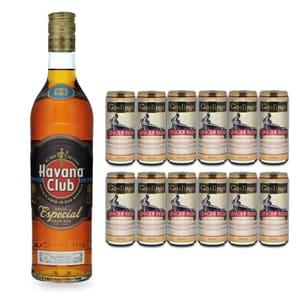 Havana Club Añejo Especial 70cl mit 12x Gosling's Ginger Beer