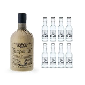 Ableforth's Bathtub Dry Gin 70cl mit 8x Gents Tonic Water
