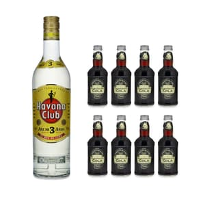 Havana Club 3 Años Rum 70cl avec 8x Fentimans Curiosity Cola