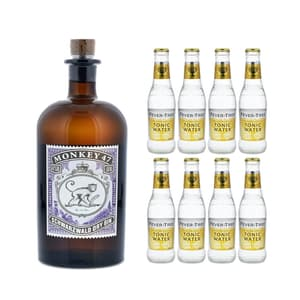 Monkey 47 Schwarzwald Dry Gin 50cl mit 8x Fever-Tree Premium Indian Tonic Water