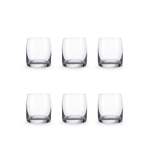 Bohemia Crystal Glass Ideal O.F. Whiskyglas 23cl, 6er-Set