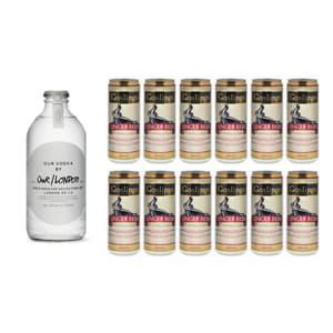 Our Vodka / London 35cl mit 12x Gosling's Ginger Beer