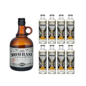 Mombasa Club Gin 70cl avec 8x 1724 Tonic Water