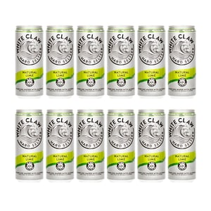 White Claw Natural Lime Hard Seltzer 33cl, 12er-Pack
