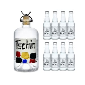 Tschin Gin 50cl avec 8x Gents Tonic Water