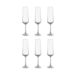 Bohemia Crystal Glass Sandra Flute 20cl, 6er-Set