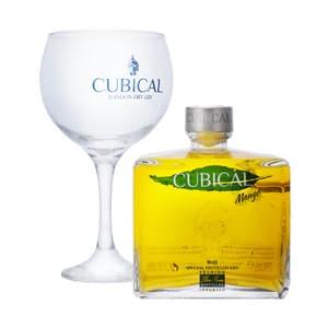 Cubical Mango Special Distilled Gin 70cl, Set mit Glas