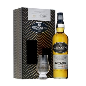 Glengoyne 12 Years Whisky 70cl Set mit Glas