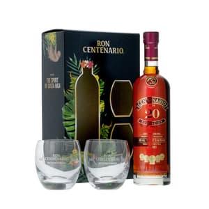 Centenario 20 Años Rum 70cl, Set mit 2 Tumbler
