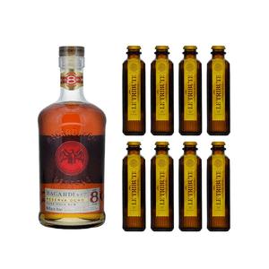 Bacardi Reserva Ocho Rum 70cl mit 8x Le Tribute Ginger Beer