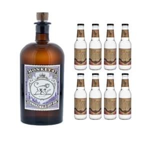 Monkey 47 Schwarzwald Dry Gin 50cl mit 8x Doctor Polidori's Dry Tonic Water
