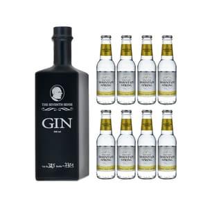 The Seventh Sense Gin 50cl avec 8x Swiss Mountain Spring Classic Tonic Water