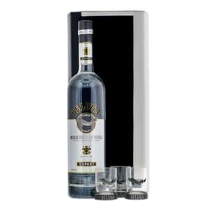 Beluga Noble Vodka 70cl dans un Etui en Cuir avec 3 Verres à Shot