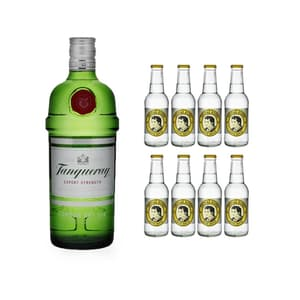 Tanqueray London Dry Gin 70cl mit 8x Thomas Henry Tonic Water