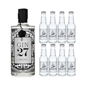 Gin 27 70cl mit 8x Gents Tonic Water