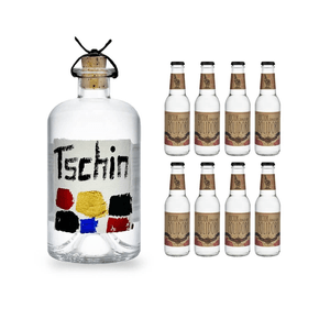 Tschin Gin 50cl mit 8x Doctor Polidori's Dry Tonic Water