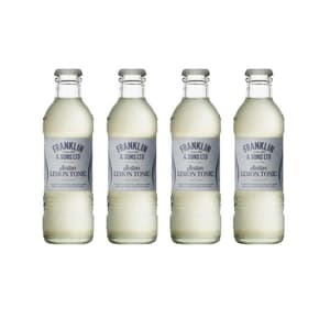 Franklin&Sons Sicilian Lemon Tonic Water 20cl, Pack de 4