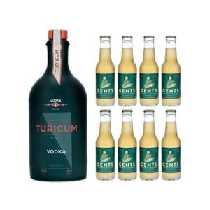 Turicum Vodka 50cl avec 8x Gents Ginger Brew