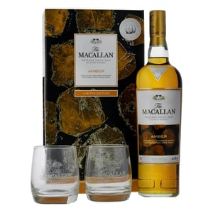 The Macallan Amber 1824 mit 2 Gläser 70cl