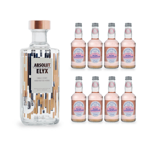 Absolut Vodka Elyx 70cl avec 8x Fentiman's Rose Limonade