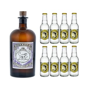 Monkey 47 Schwarzwald Dry Gin 50cl mit 8x Thomas Henry Tonic Water