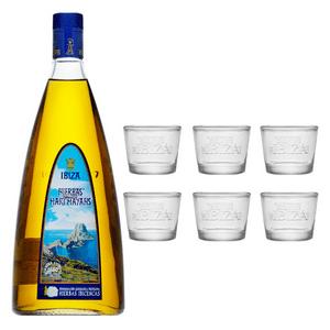 Mari Mayans Hierbas Ibicencas 100cl avec 6 verres à shot