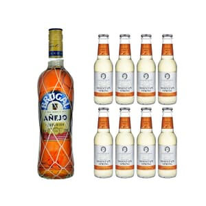 Brugal Anejo Rum 70cl avec 8x Swiss Mountain Spring Ginger Beer