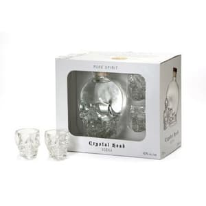 Crystal Head Vodka Set avec 2 Verres à Shot Crystal Head 70cl