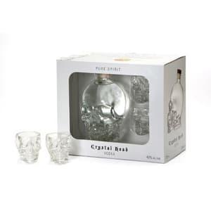 Crystal Head Vodka Set mit 2 Crystal Head Shot Gläser 70cl