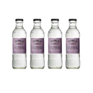 Franklin&Sons Pink Grapefruit & Bergamot Tonic Water 20cl, 4er-Pack