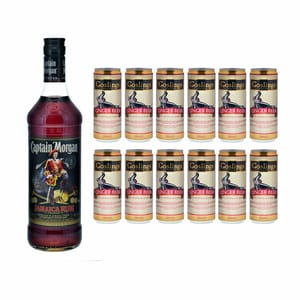 Captain Morgan Jamaica Rum 70cl avec 12x Gosling's Ginger Beer