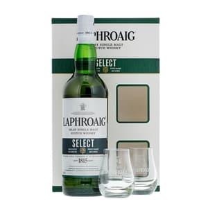 Laphroaig Select Whisky 70cl Set mit 2 Gläser