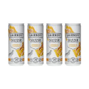 Smirnoff Seltzer Orange & Grapefruit 25cl, 4er-Pack