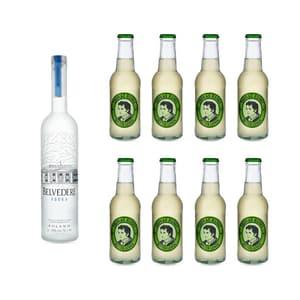 Belvedere Vodka 70cl mit 8x Thomas Henry Bitter Lemon