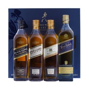 Johnnie Walker Blended Scotch Whisky Collection Set, 4x 20cl