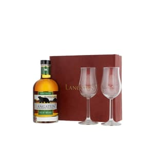 Langatun Old Bear Whisky Smoky 35cl mit 2 Gläser