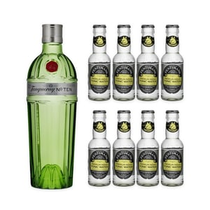 Tanqueray No.10 Dry Gin 70cl mit 8x Fentiman's Tonic Water